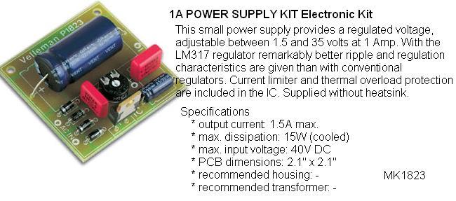 1 Amp Power Sup