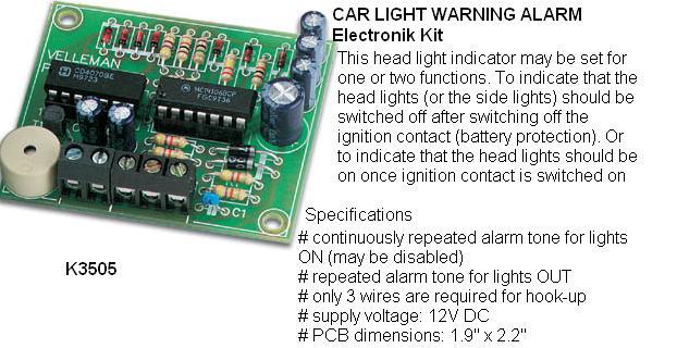 Car Light Warni