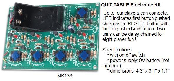 Quiz Table Elec