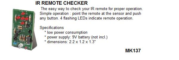 IR Remote Check