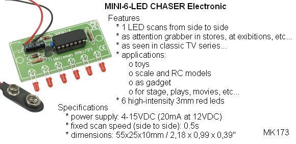 Mini 6-LED Chas