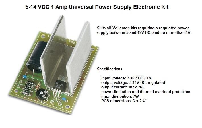5-14 VDC 1 Amp