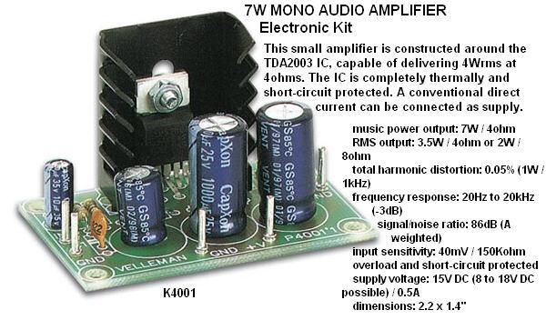 7W Mono Audio A