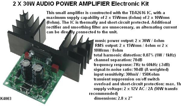 2 X 30W Audio A