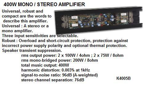 400 Watt Mono/S