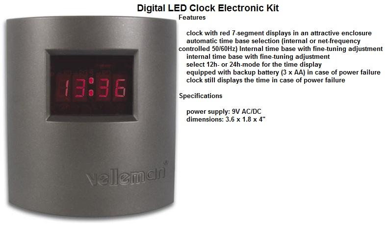 Digital LED Clo
